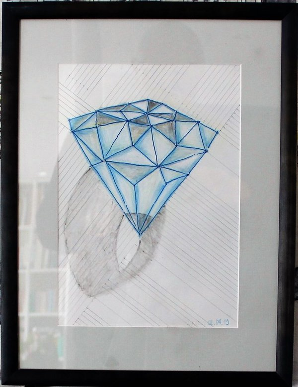 Diamant in blue